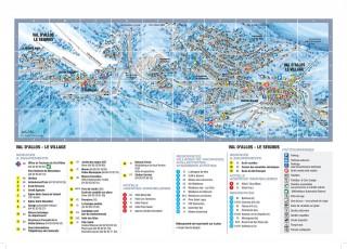 Plan station hiver Val d'Allos le Village et le Seignus