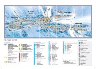 Plan station hiver Val d'Allos - la Foux