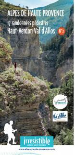 Carte des randonnées pédestres Haut Verdon Sud