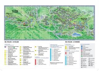 Plan station été Val d'Allos le Seignus et le Village