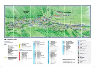 Plan station été Val d'Allos la Foux