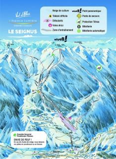 Plan des pistes Val d'Allos le Seignus