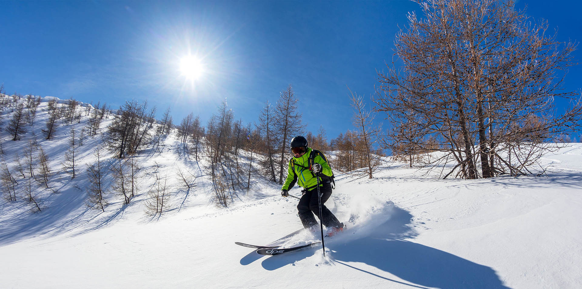 skiing in the french southern alps