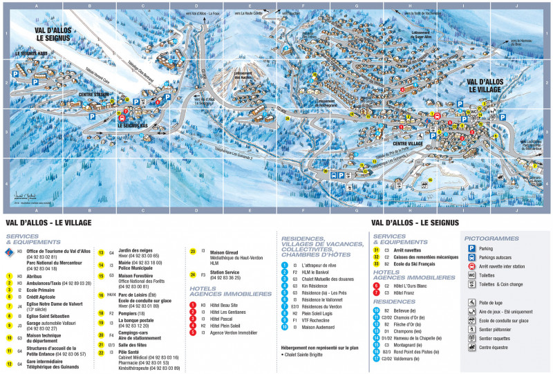 plan de ville Val d'Allos