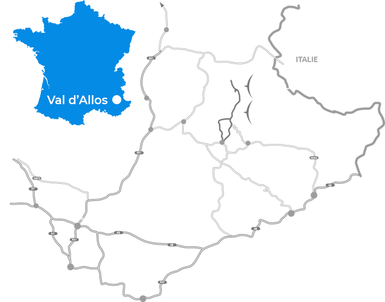 Carte Val d'Allos